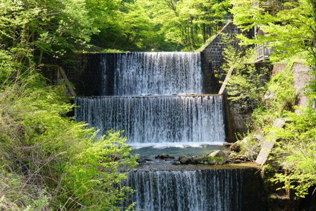 土湯温泉,滝