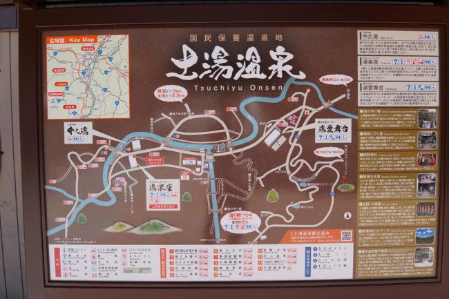 土湯,地図