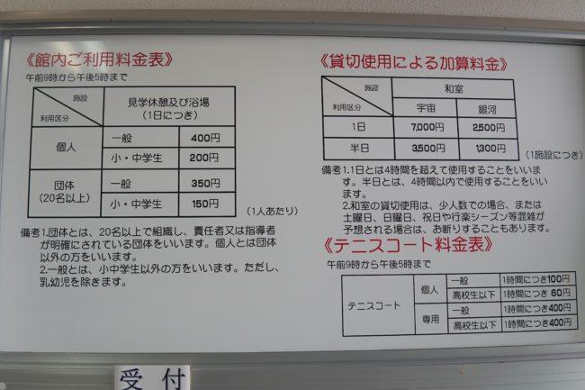 UFOふれあい館,料金