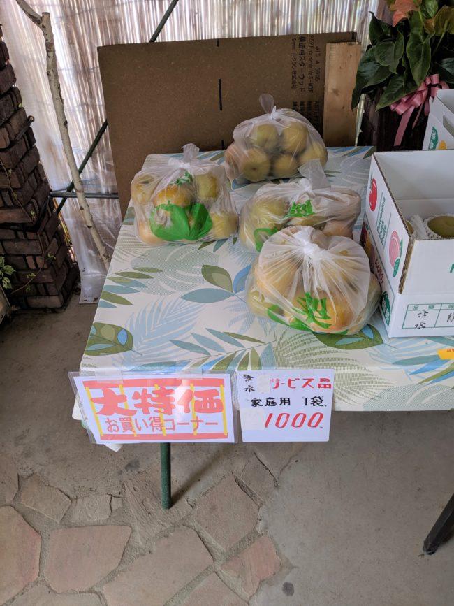 お徳用梨,1,000円