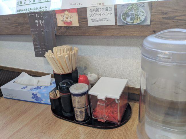 水、箸、醤油