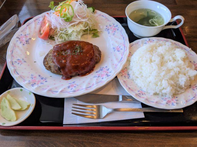 ビーフハンバーグ定食