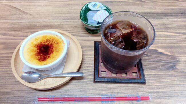 プリン,アイスコーヒー